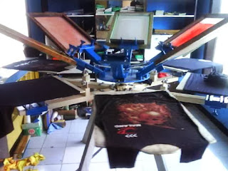 Proses cetak pakaian