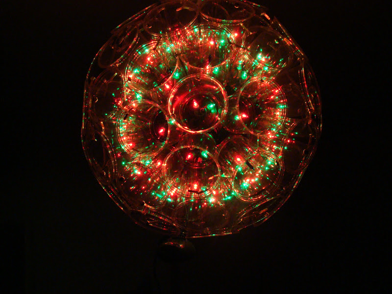 ... to make christmas light balls of course i gave them as christmas gifts