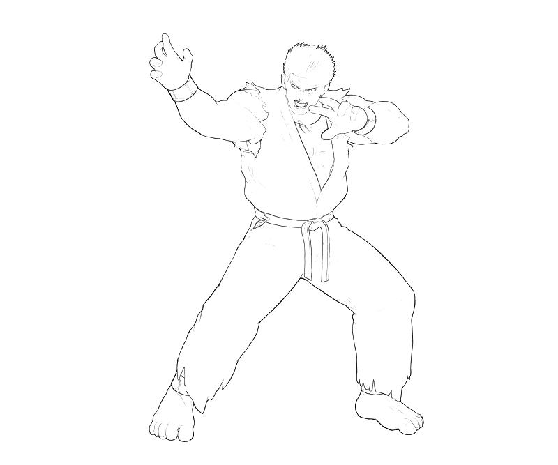 printable-king-of-fighters-ryo-sakazaki-power-coloring-pages