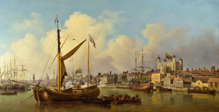 Samuel Scott - The Thames and the Tower of London Supposedly on the King's Birthday