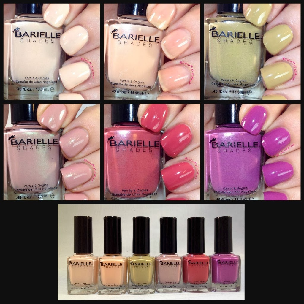 Collage of colors from Barielle Spring Velvet Collection 2014