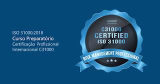 CURSO PREPARATÓRIO - Certificação Internacional na ISO 31000 de Gestão de Riscos