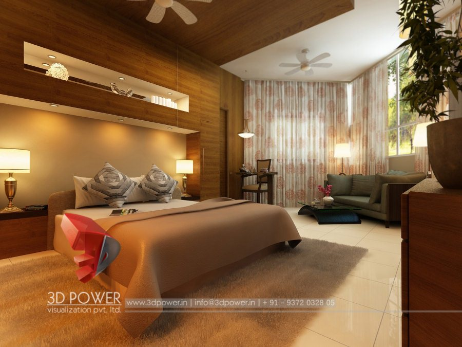 Architectural 3D Bedroom Interior Designs Rendering