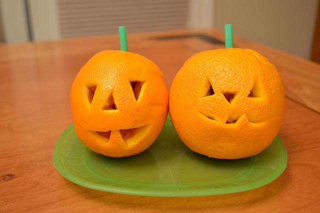 Jack o'lantern oranges