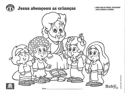 associação cristã pedagógica jesus e as crianças para pintar