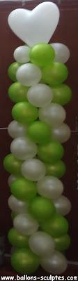 colonne en ballons
