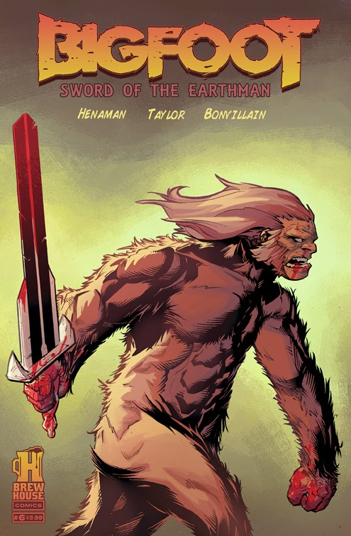 bigfoot sword of the earthman issue six issue 6 cover bigfoot comic book bigfoot graphic novel barbarian comic