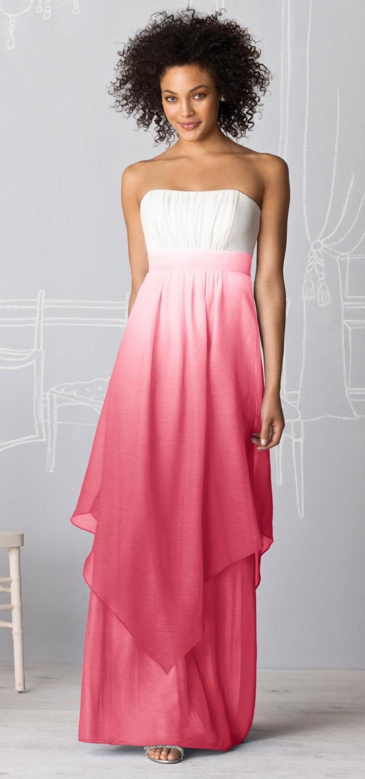 Lujo Vestido De Novia De Color Rosa Ombre Regalo - Ideas de los ...
