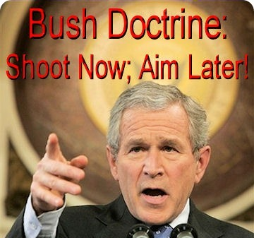 the bush doctrine and the iraq Bush's stated rationale for attacking iraq in 2003 was: a) revenge for iraq's involvement in the september 11 attacks b) that country's presumed threat to the united states.
