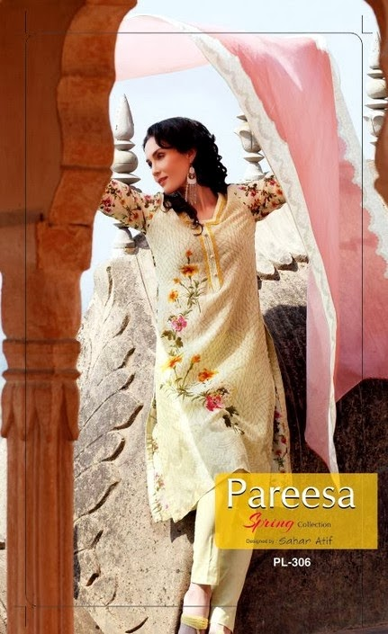 Chiffon Pareesa Design by Sahar Atif
