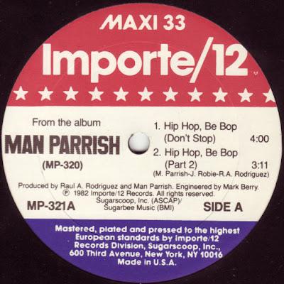 Man Parrish – Hip Hop, Be Bop (Don't Stop) (1982, VLS, 320)