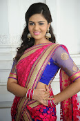 Sri Mukhi Gorgeous Half saree Photos-thumbnail-18