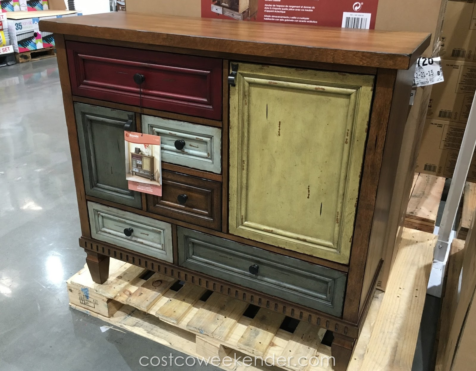 Bon Store Your Belongings With The Bayside Furnishings Accent Cabinet
