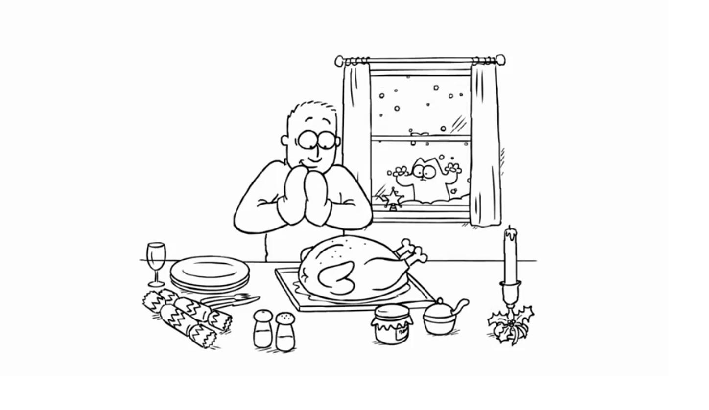 Simons Cat  Tisch