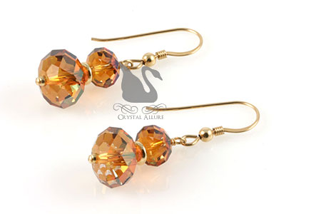 Swarovski Crystal Copper Stack Earrings (E117)