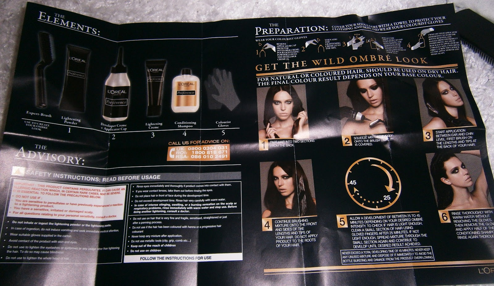 Loreal Preference Hair Color Directions