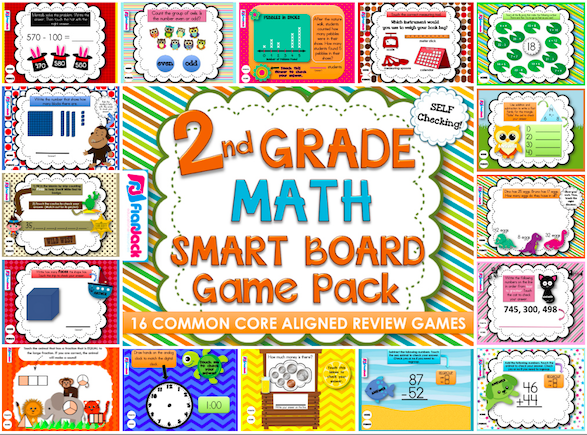 http://www.teacherspayteachers.com/Product/Second-Grade-Math-Smart-Board-Game-Pack-Common-Core-Aligned-1232054