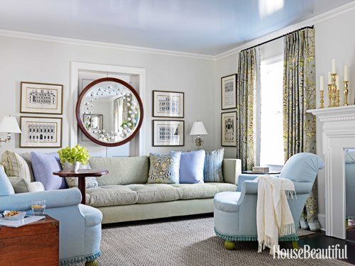 Best interior design house - Grey and blue living room ...