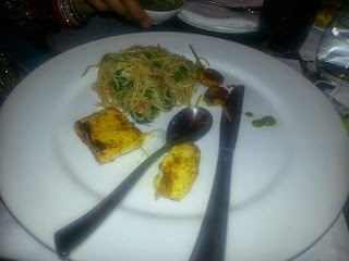 Paneer Tikka and Noodles