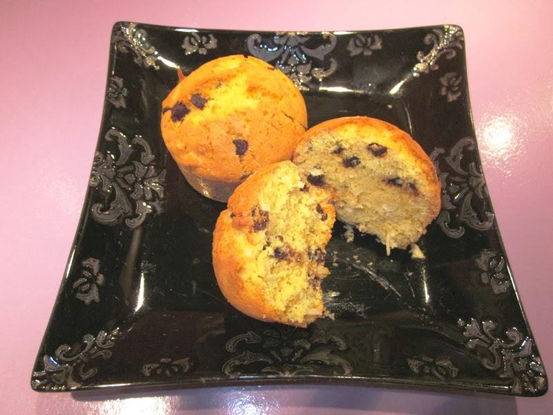 Muffins sans gluten aux pépites de chocolat et noix de coco