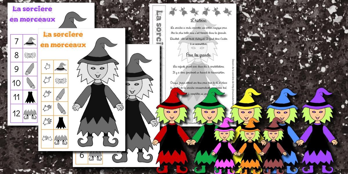 La maternelle de laur ne halloween - Le jeux de la sorciere qui fait peur ...