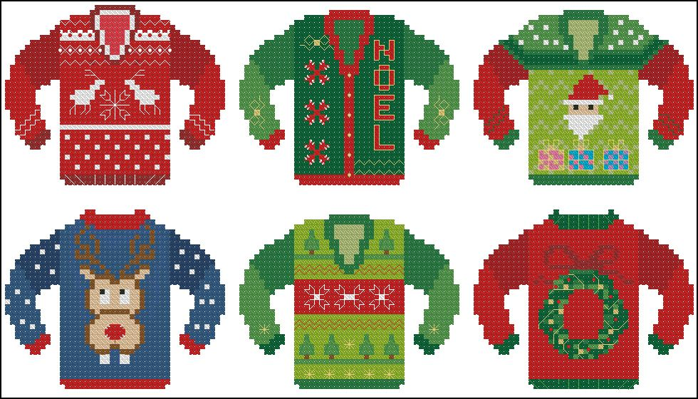 Counted Cross Stitch Patterns by Pinoy Stitch: Ugly Christmas ...