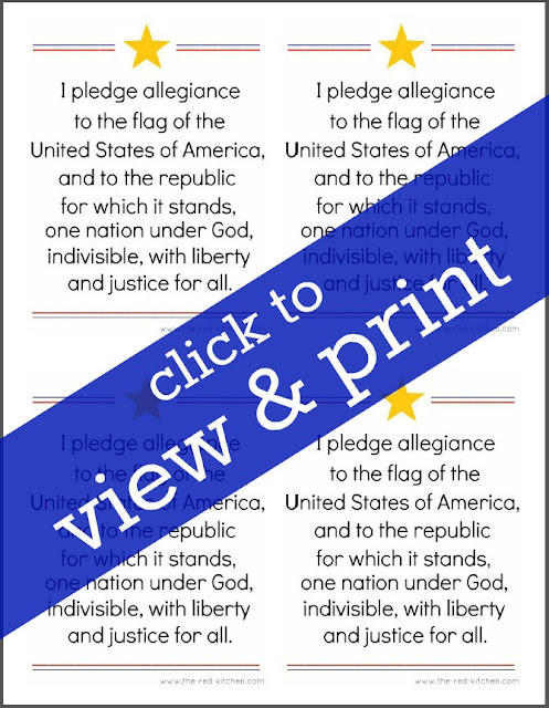 Gutsy image within pledge of allegiance printable