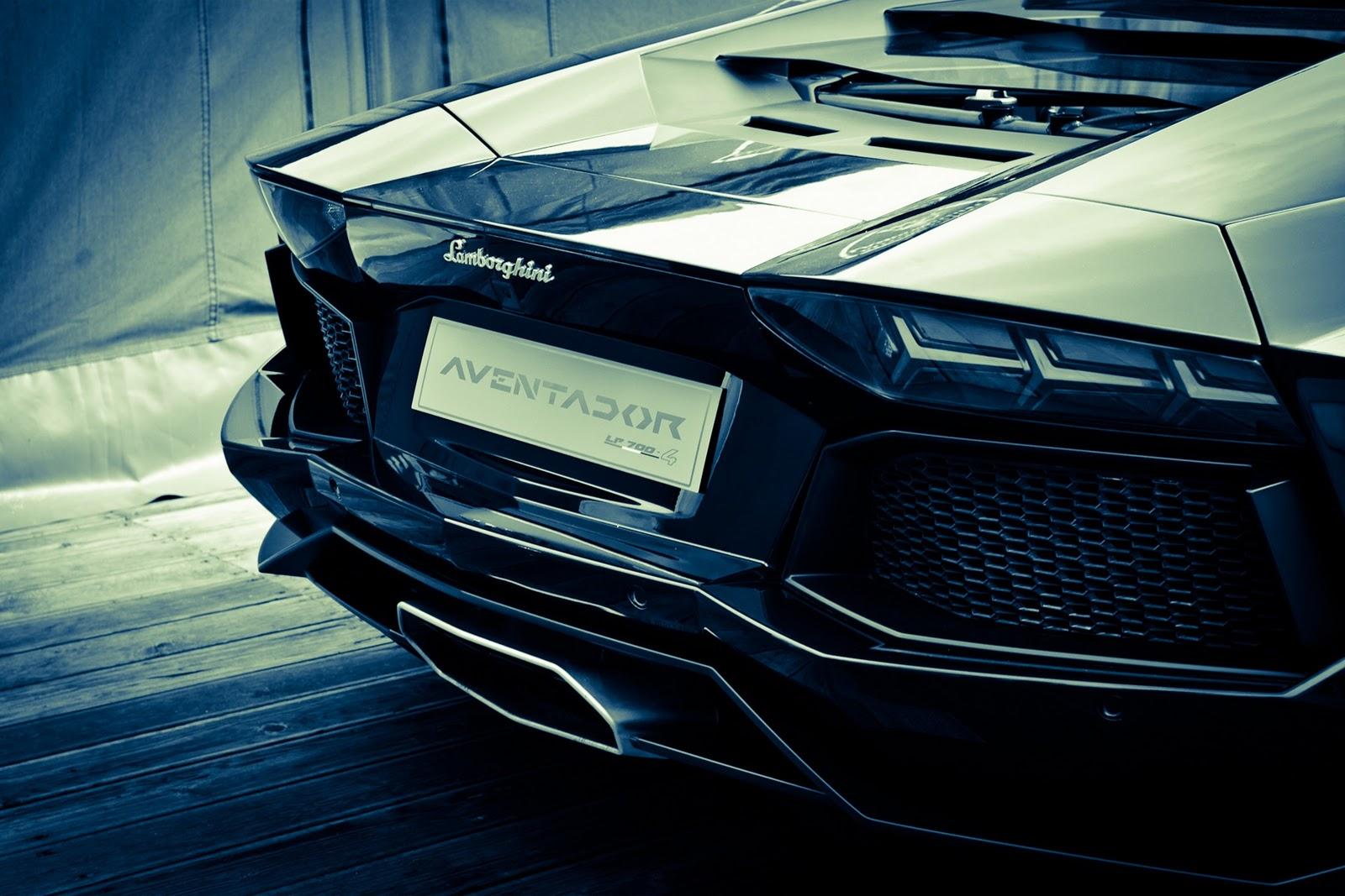 Fondo de Pantalla de la parte de atras de un Lamborghini