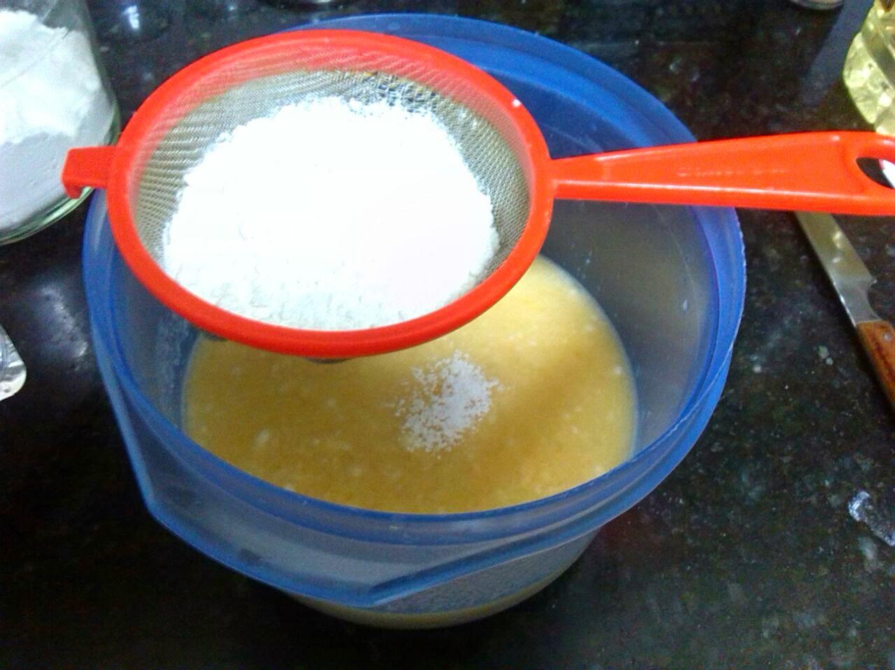 Bizcocho de mandarina al microondas