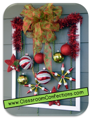 Christmas Picture Frame Wreath - Classroom Activities: Social ...