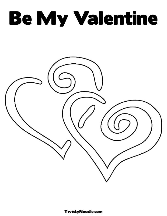 Free Coloring Pages Etyho: Be My Valentines Coloring Pages