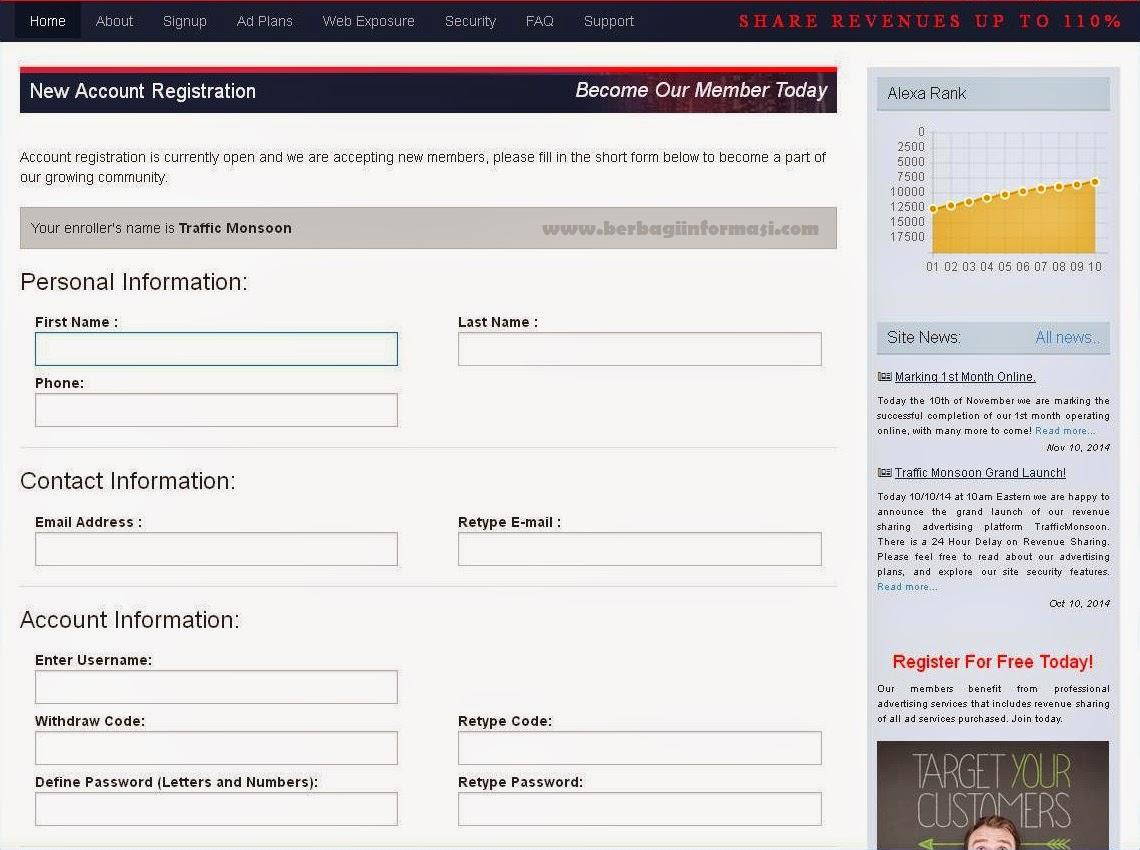 Lengkapi form pendaftaran