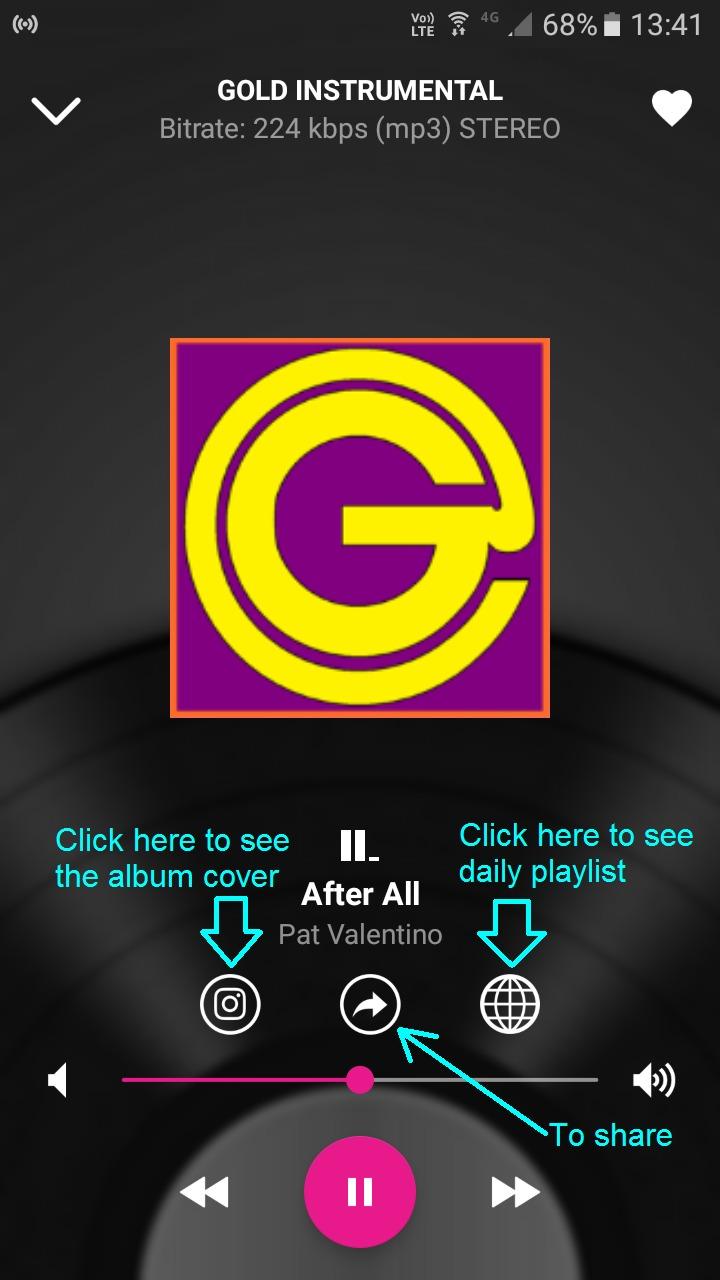 Instale no seu celular o Aplicativo da Gold Web Rádio e Gold Instrumental.Clique na imagem.