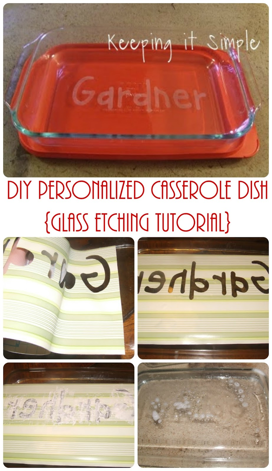 Diy Personalized Wedding Gift Ideas : Keeping it Simple: Easy Wedding Gift Idea- Personalize Casserole Dish ...