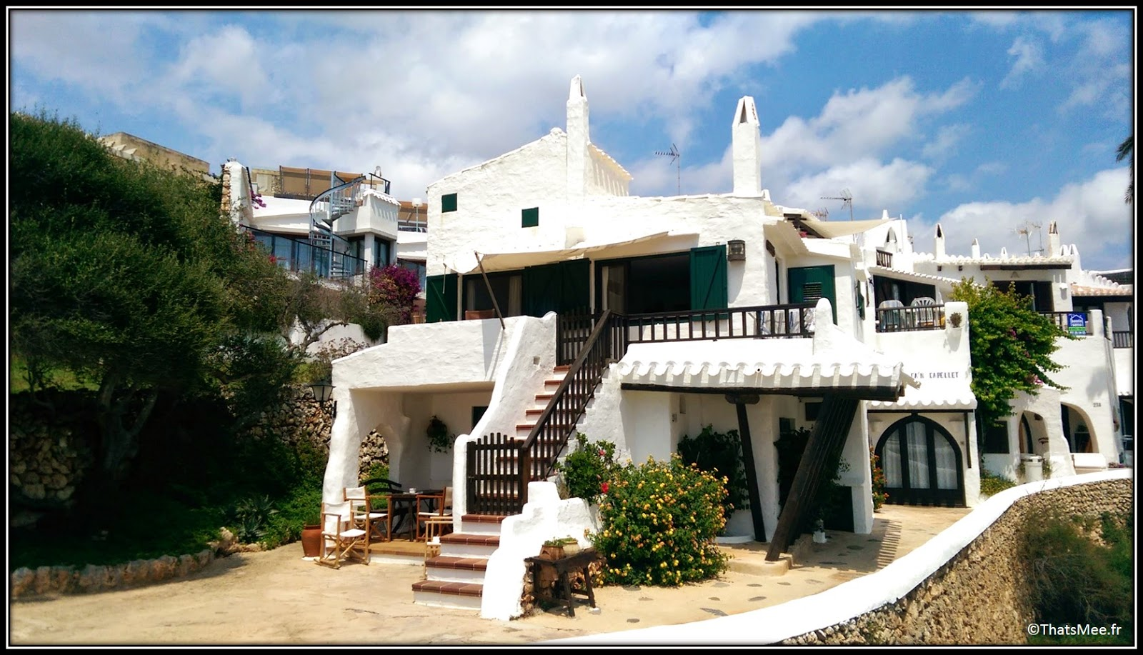 Binibeca Binibequer village blanc pecheurs Menorca Minorque escaliers maisons
