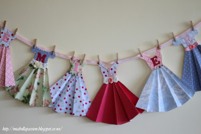 paper dress bunting