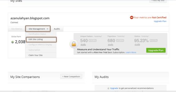 Alexa Terbaru dan Cara Mendaftarkan Blog Anda