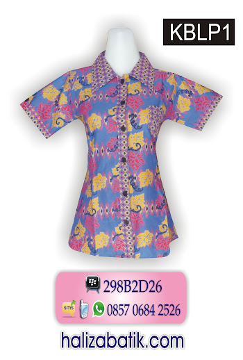 085706842526 INDOSAT, Grosir Batik, Baju Modern, Desain Baju Batik Wanita, KBLP1, http://grosirbatik-pekalongan.com/blus-kblp1/
