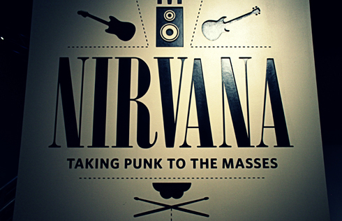 nirvana exhibit at EMP museum in seattle washington