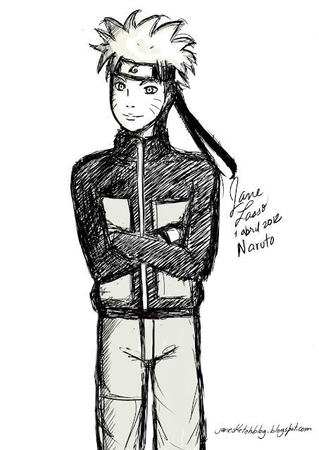 Sketch de personaje manga