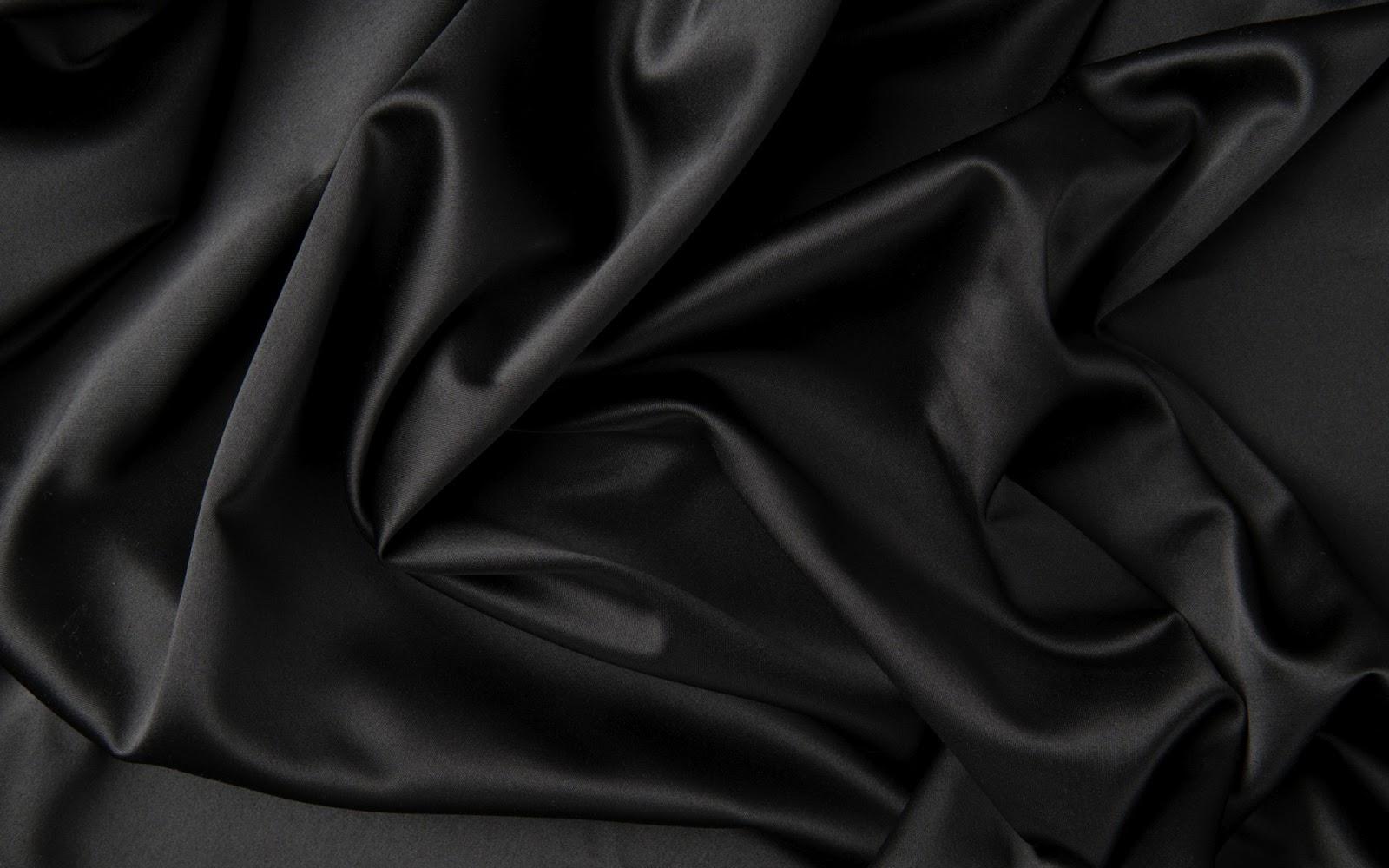 Zwarte achtergrond van satijn stof | Bureaublad Achtergronden