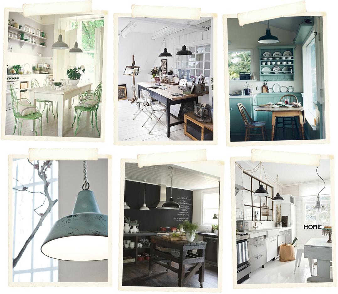 Stile industriale e lampade vintage - shabby chic interiors