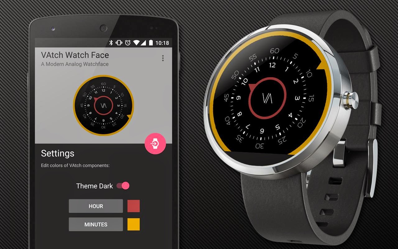 Facer android wear - Check Out The Vatch Premium Watch Face A Good Looking Watch Face For Your Android Wear Device The Vatch Premium Watch Face Do Have A Professional And
