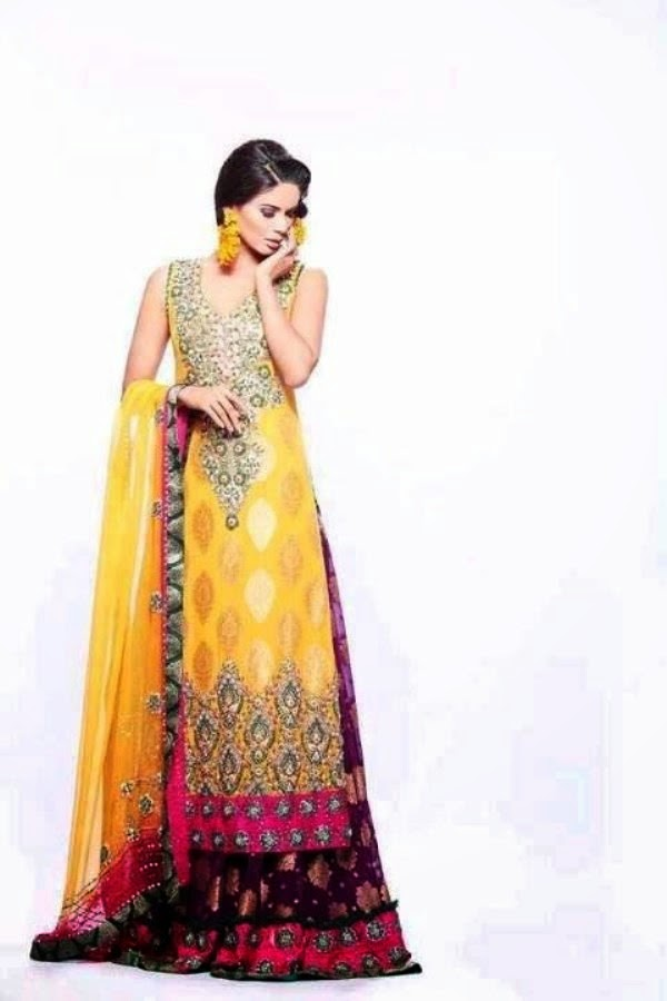 Latest Mehndi Party Dresses : Pakistani mehndi dresses designs