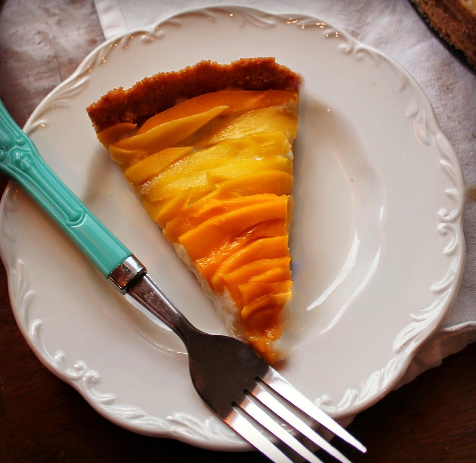 Mango Sticky Rice Inspired Tart with Coconut & Cashew Crust