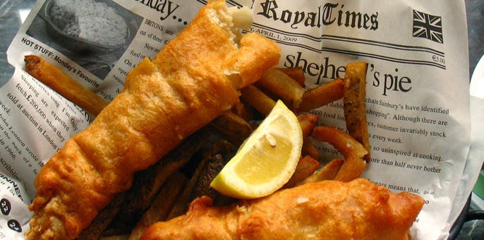 Keith 39 s ramblings a fishy tail for Fish and chips newspaper