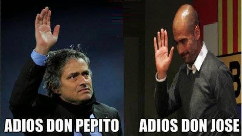Mientras tanto, Mourinho y Pep Guardiola.