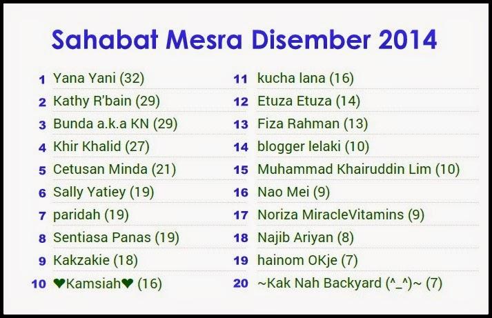 Sahabat Blogger Paling Mesra