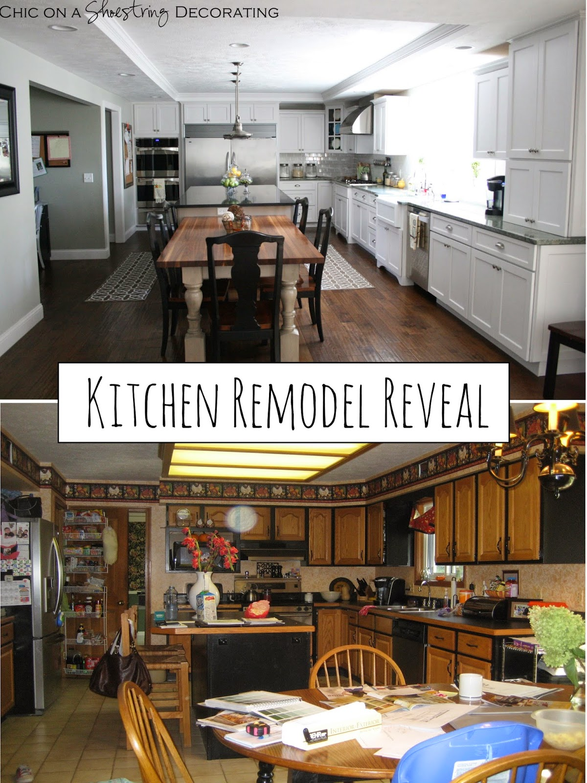 white kitchen remodel subway tile chic on a shoestring decorating  client kitchen remodel reveal  rh   chiconashoestringdecoratingblog com