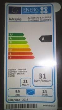 Samsung S24D390HL-ecolabel 21Watt